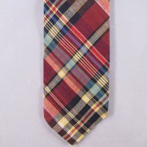 Vintage/Early Brooks Bros. Men's Cotton Plaid Tie